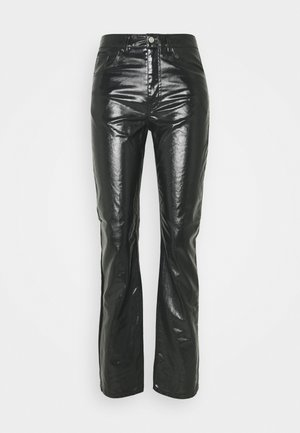 RALPH COATED TROUSERS - Tygbyxor - washed black