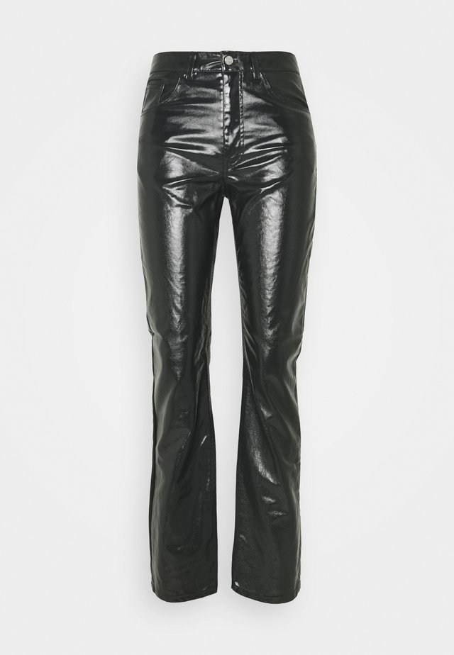 RALPH COATED TROUSERS - Trousers - washed black