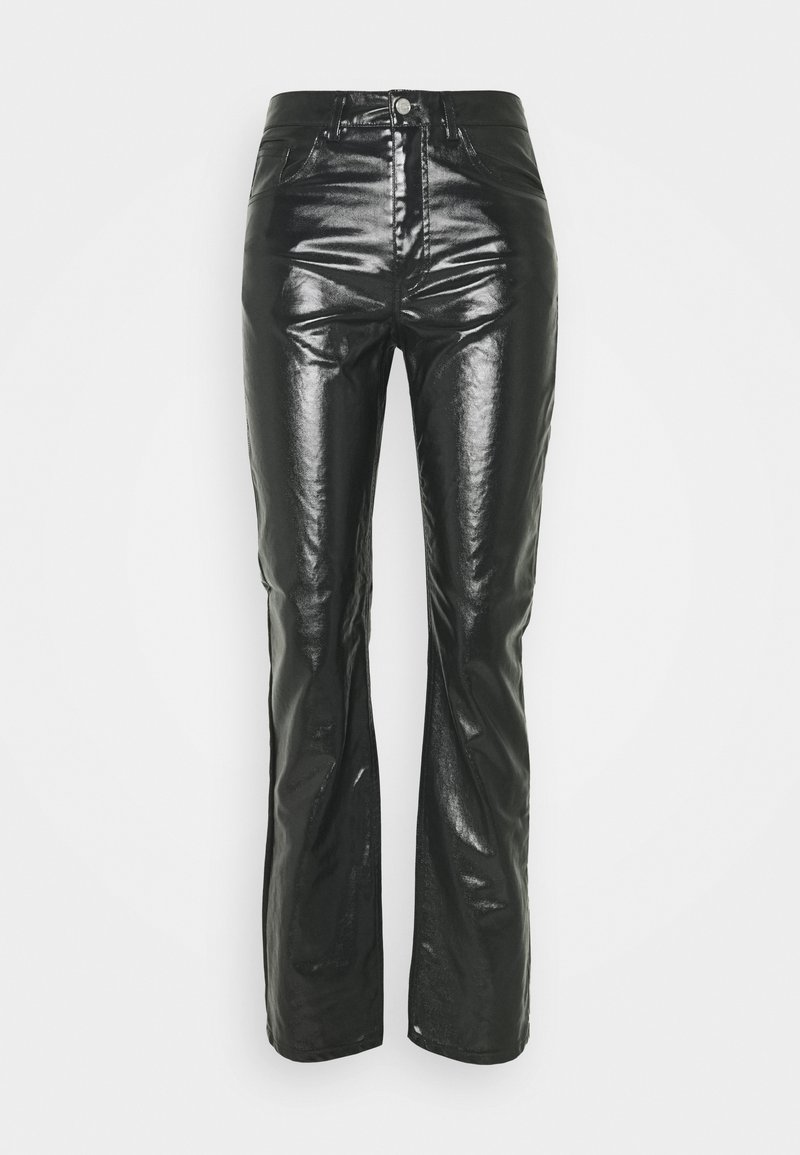 Weekday - RALPH COATED TROUSERS - Trousers - washed black