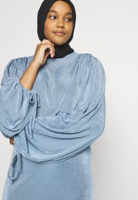 Missguided - MODESTY ACETATE VOLUME SLEEVE  - Long sleeved top - blue - 3