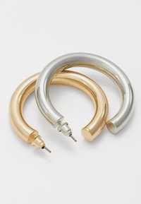 Topshop - THICK HOOP 2 PACK - Náušnice - mixed metal - 1
