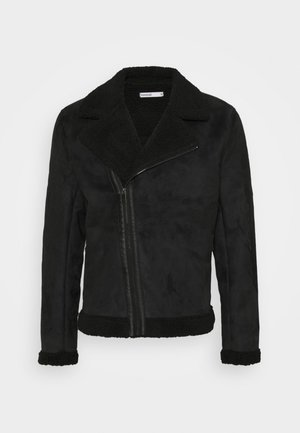 AVIATOR  - Faux leather jacket - black