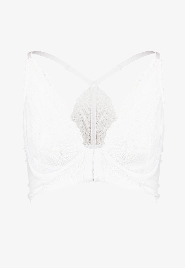 SUPERBOOST DEEP V BRALET - Bygel-bh - white