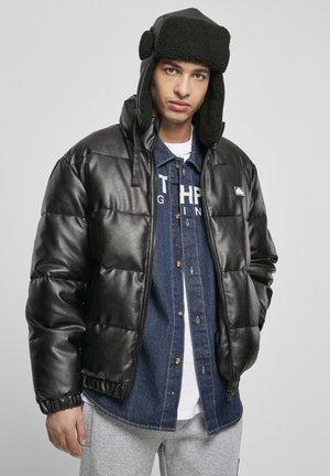 HERREN SOUTHPOLE IMITATION LEATHER BUBBLE - Leather jacket - black
