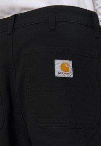 Carhartt WIP - DOUBLE KNEE PANT DEARBORN - Kangashousut - black rinsed - 5