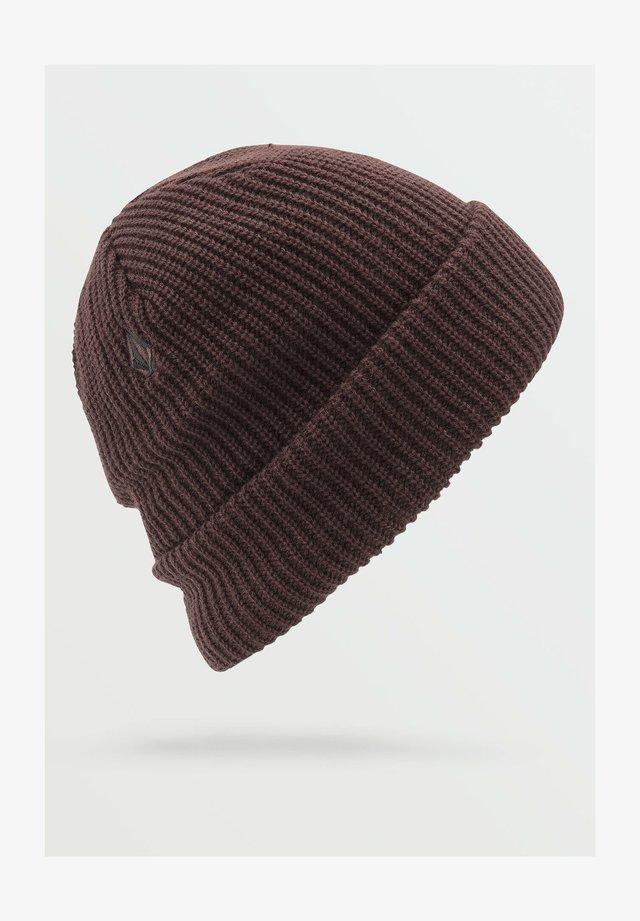 POLAR LINED BEANIE - Mütze - black_red