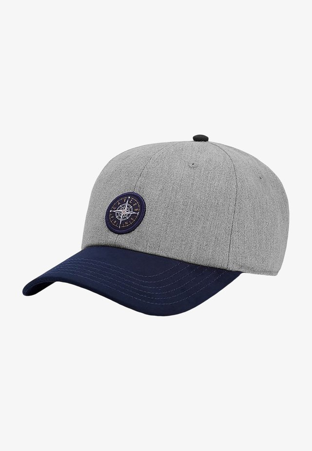 NAVIGATING - Casquette - grey heather/navy