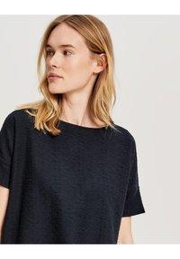 Opus - SIGRONE - Basic T-shirt - dark blue - 2