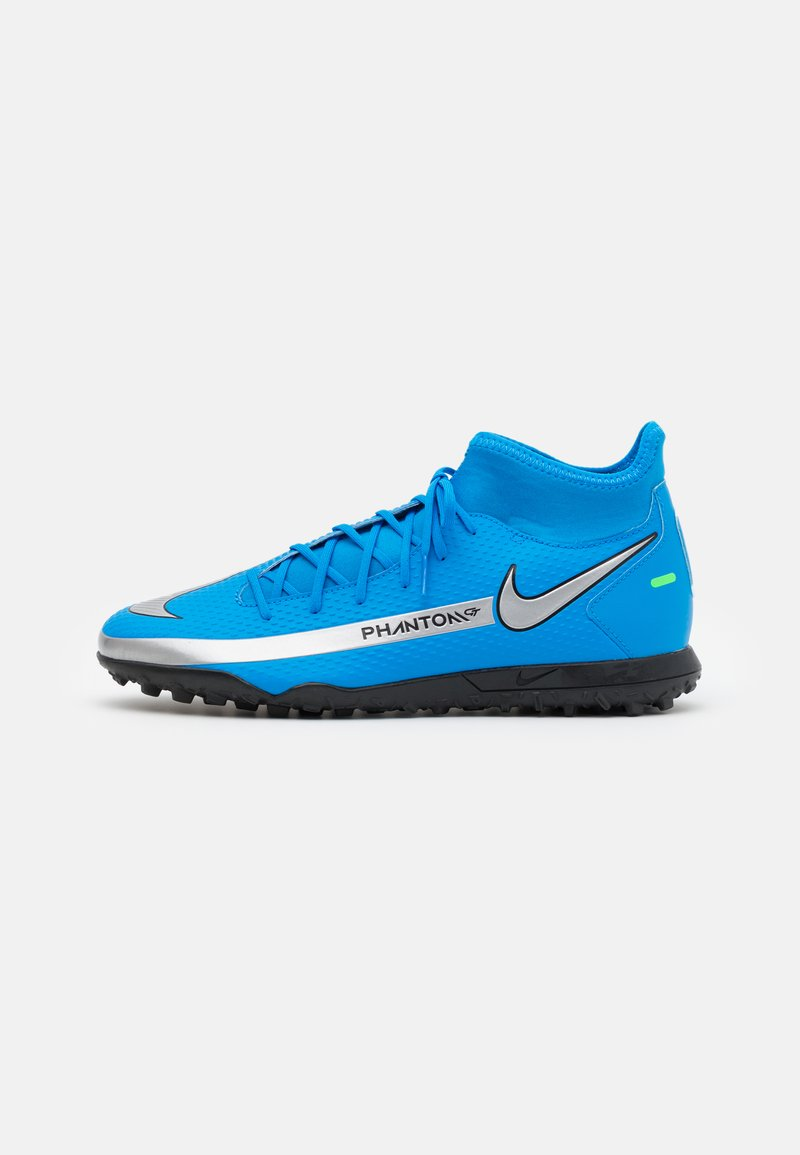 Nike Performance - PHANTOM GT CLUB DF TF  - Astro turf trainers - photo blue/metallic silver/rage green