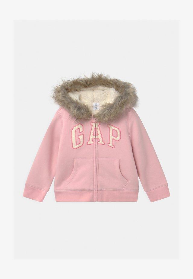 TODDLER GIRL LOGO - veste en sweat zippée - pure pink