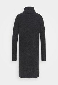 ONLY Tall - ONLJANA COWLNCK DRESS  - Pletené šaty - dark grey melange - 1
