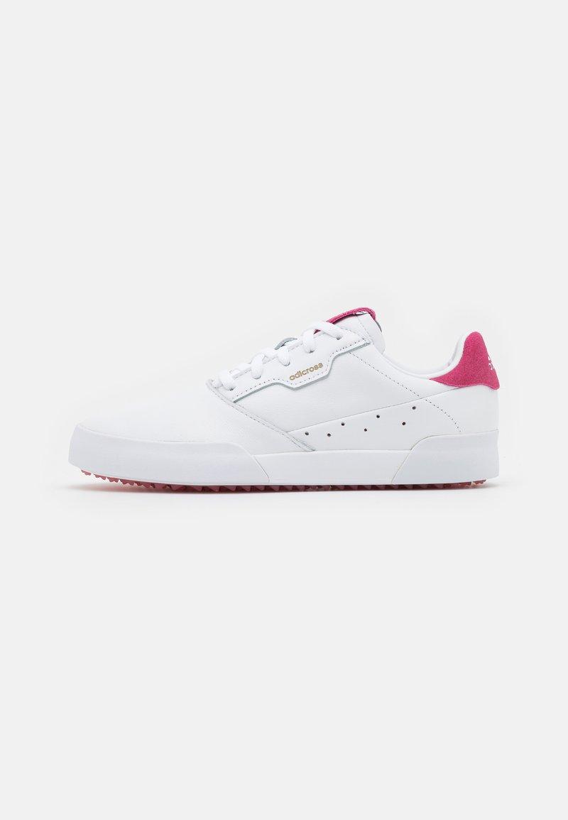 adidas Golf - ADICROSS RETRO - Golf shoes - footwear rwhite/wild pink
