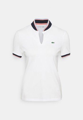 GOLF BASIC - Polo shirt - blanc/marine/elfe/calanque