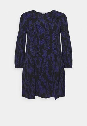 DRESS SLEEK CREW NECK - Day dress - black/lilac
