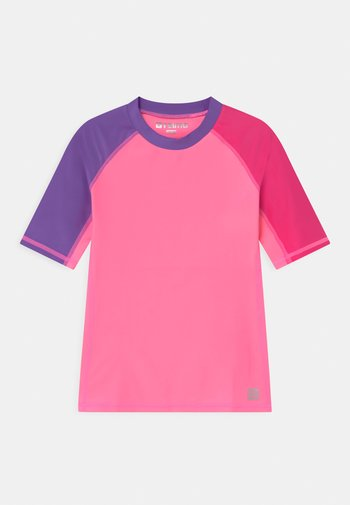 SWIM JOONIA AQUATIC - Rash vest - neon pink