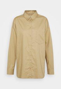 MEJA  - Button-down blouse - beige medium dusty