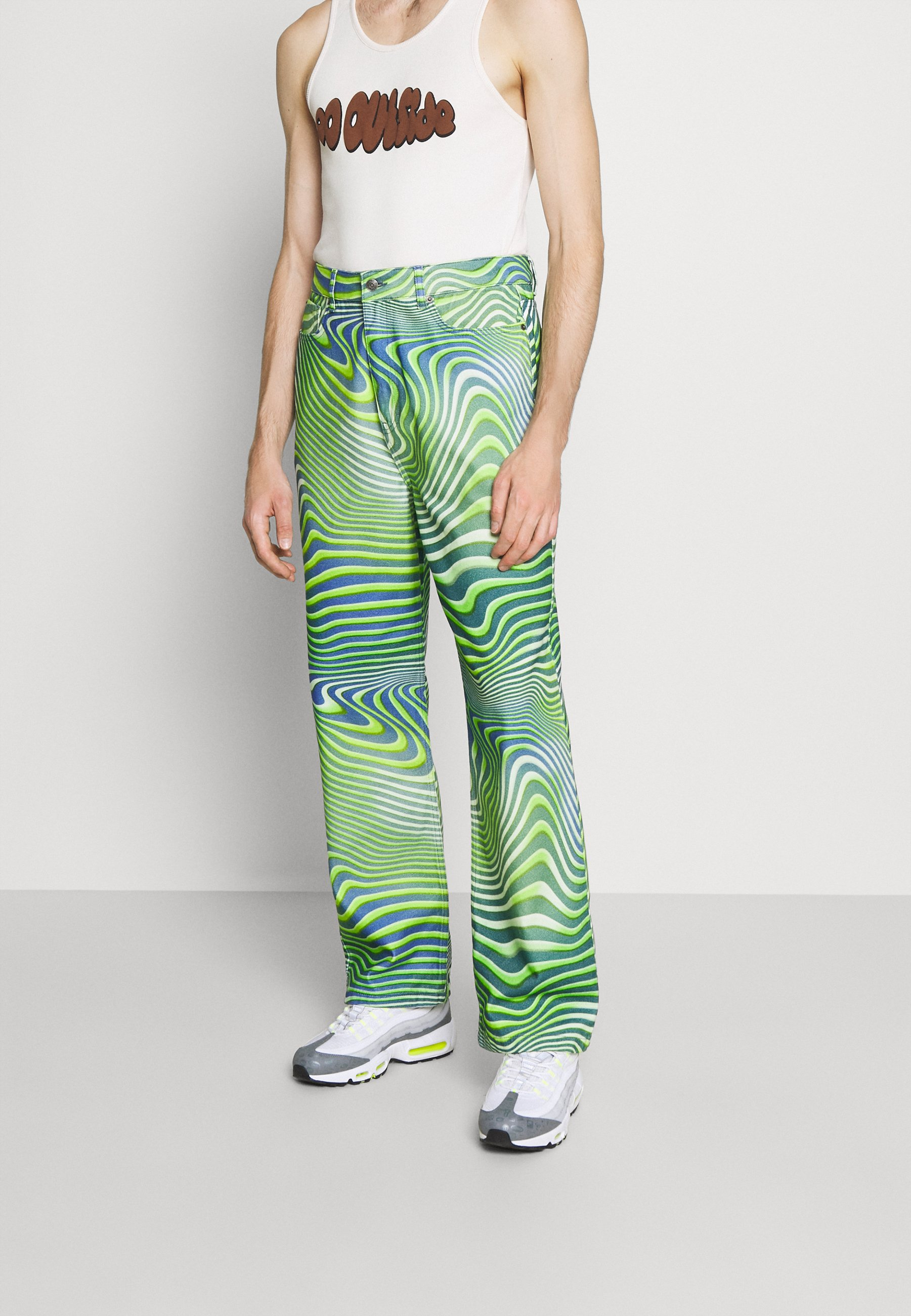Uomo GREEN WARPED WAVE SKATE JEANS - Jeans baggy