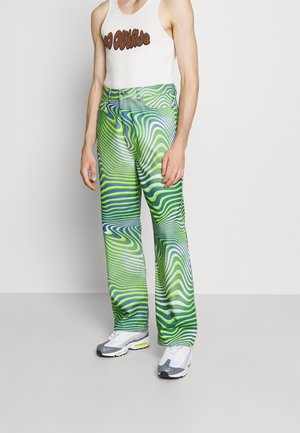 GREEN WARPED WAVE SKATE JEANS - Relaxed fit jeans - cream/mint