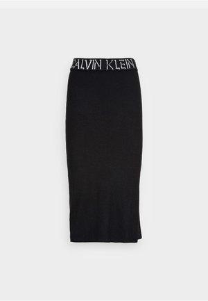 LOGO WAISTBAND SKIRT - Pouzdrová sukně - black