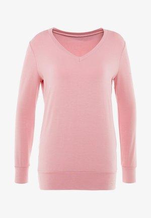 NEW V NECK  - Topper langermet - coral pink