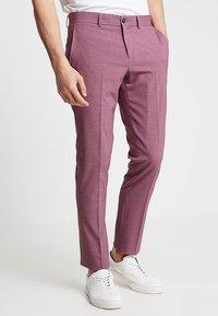 Lindbergh - PLAIN MENS SUIT - Kostuum - dusty pink melange - 4