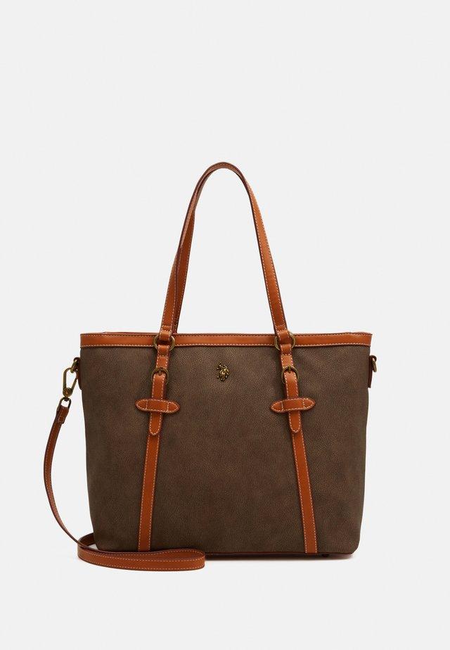 NABUK - Handbag - taupe
