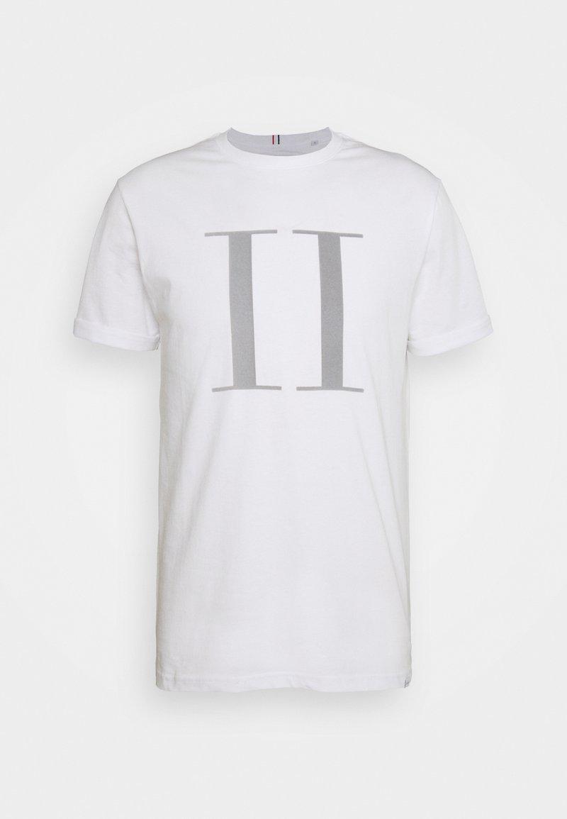 Les Deux - ENCORE  - Print T-shirt - snow mel/navy