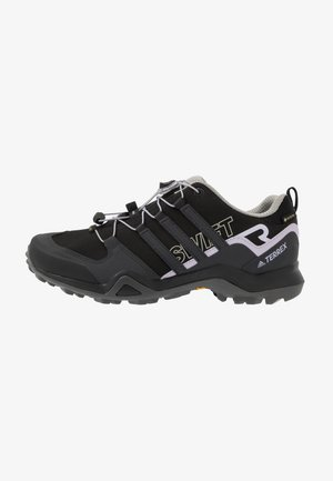 TERREX SWIFT R2 GORE-TEX - Hiking shoes - core black/solid grey/purple tint