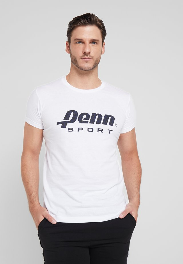 MENS ANIMAL LOGO TEE - T-shirt med print - white