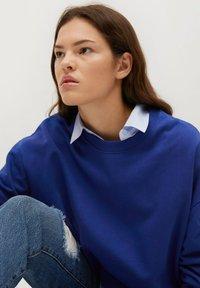 Mango - Sweatshirt - bleu - 4