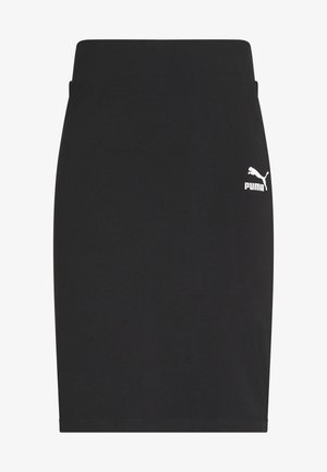 CLASSICS TIGHT SKIRT - Mini skirt - black