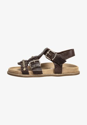 Sandals - mntrl dark brown ndb