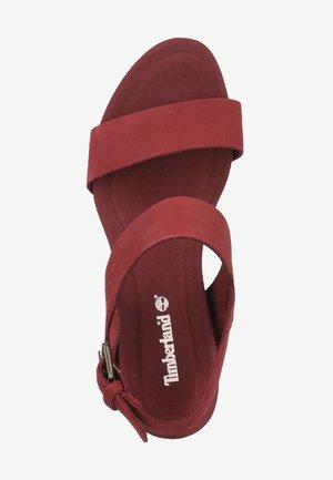 TIMBERLAND SANDALEN - High heeled sandals - chocolate truffle 2111