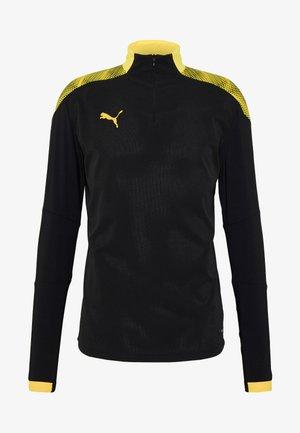 FTBLNXT 1/4 ZIP - Camiseta de deporte - black/ultra yellow