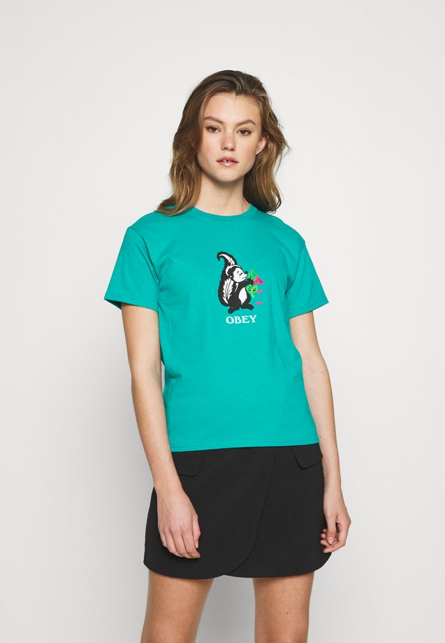 LOVE STINKS - T-shirt con stampa - jade dome