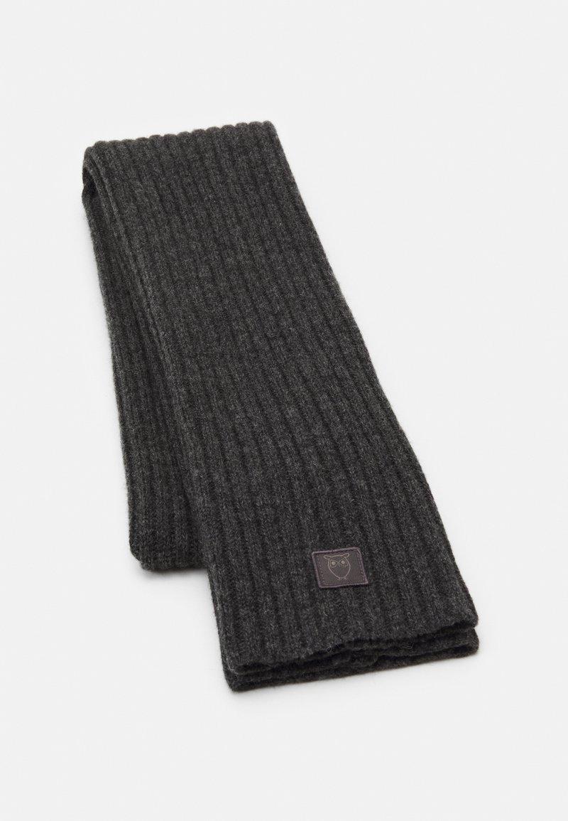 Knowledge Cotton Apparel - JUNIPER SCARF UNISEX - Šála - dark grey melange