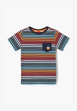 MIT BUNTEN STREIFEN - Print T-shirt - navy stripes