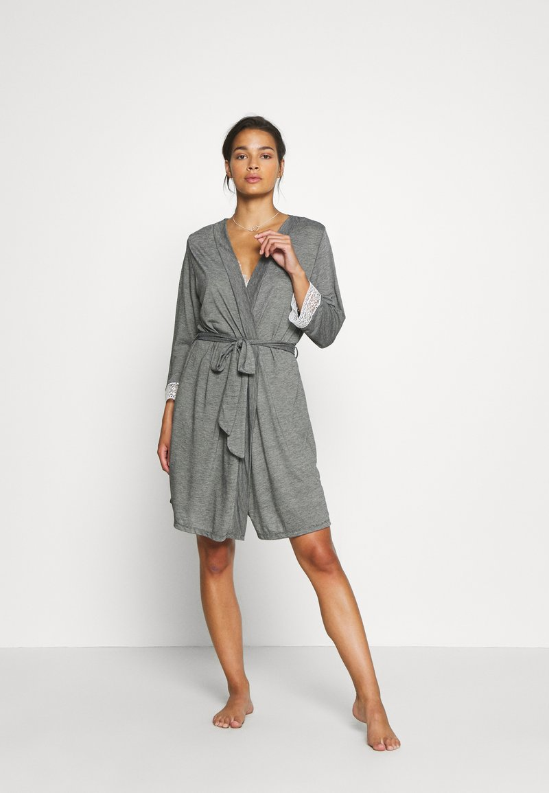 Etam - WARM DAY DESHABILLE - Dressing gown - gris