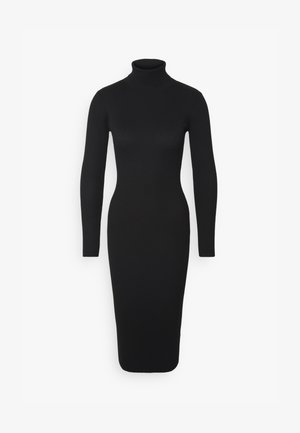 ROLL NECK  MIDI DRESS - Kotelomekko - black