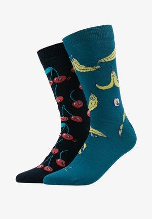 BANANAS  CHERRY 2 PACK - Socks - ocean/navy