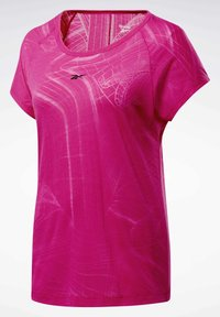 Reebok - BURNOUT T-SHIRT - T-shirts med print - pink - 7