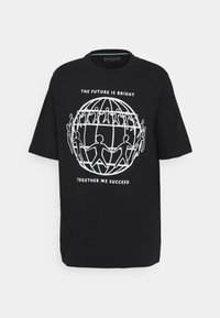 Tommy Hilfiger - ONE PLANET FRONT LOGO TEE UNISEX - Print T-shirt - black - 5