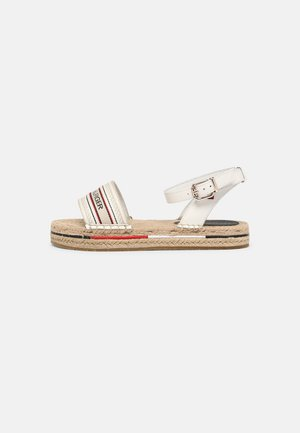 ARTISANAL FLATFORM - Sandals - ecru