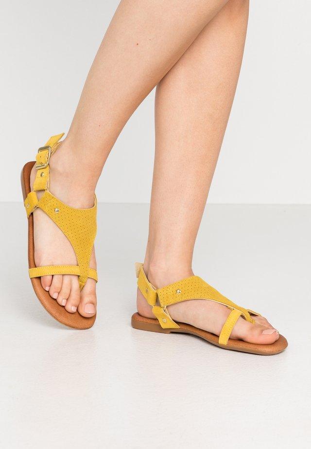 BIAVERONA  - T-bar sandals - yellow