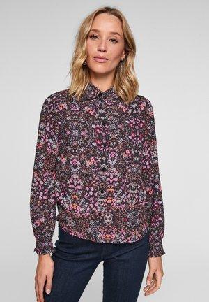 Button-down blouse - black aop