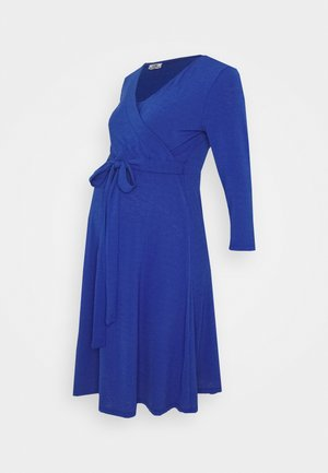 DRESS NURSING CRINCLE - Žerzejové šaty - mazarine blue