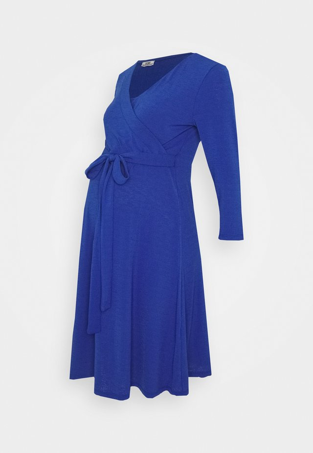 DRESS NURSING CRINCLE - Jersey dress - mazarine blue