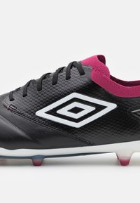 Umbro - TOCCO PRO FG - Moulded stud football boots - black/white/raspberry radiance/pink peacock - 5