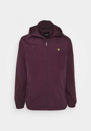 ZIP THROUGH HOODED JACKET - Summer jacket - burgundy