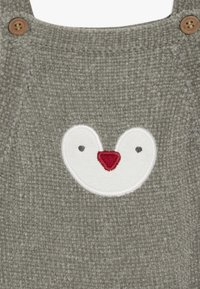 mothercare - BABY PENGUIN DUNGAREE SET  - Body - grey - 5